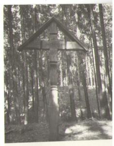 Gottlův kříž, místo tragického skonu posledního majitele Zámrského panství - 17.1.1941