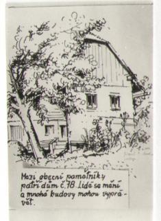 Čp. 78, malba zr.1976 prof.A. Jirouta zeSlepotic