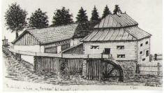 Dříve čp.6, Panský mlýn zroku 1800